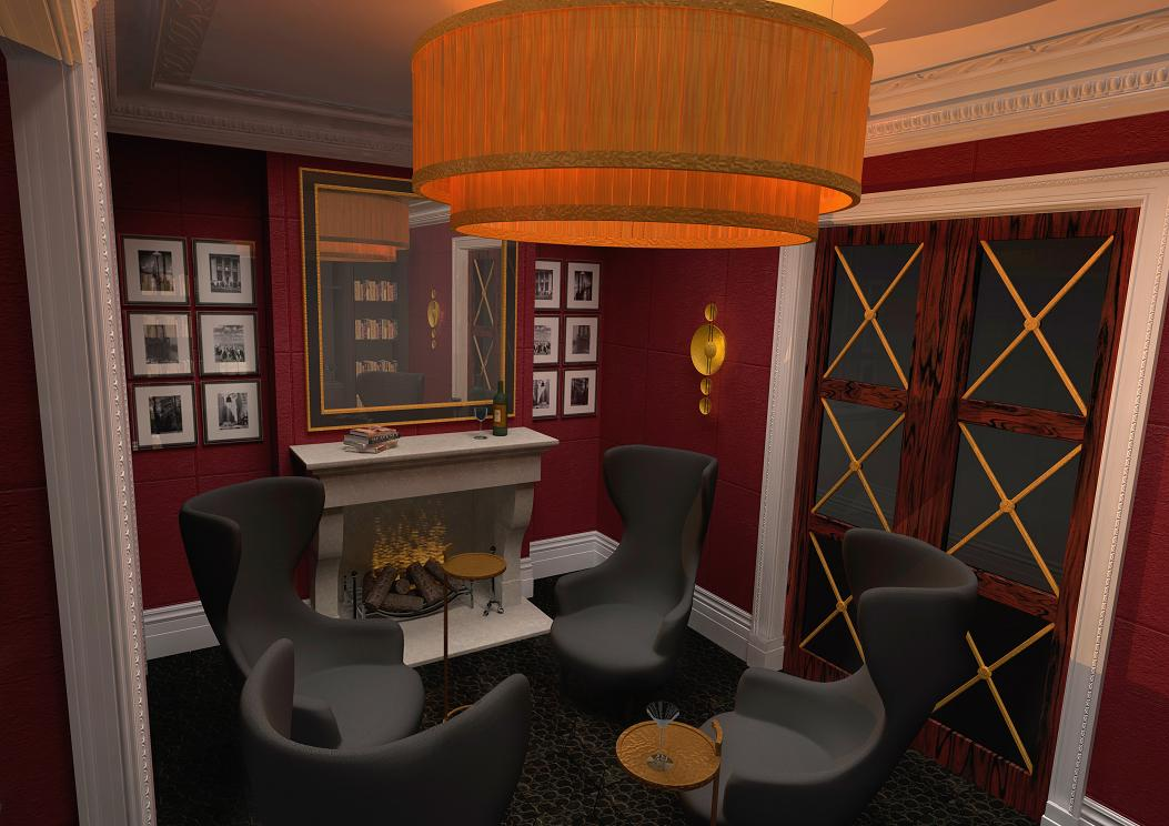 3D Graphics For the Library Scene Image