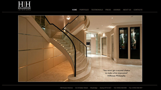 Hill House Interiors Website Image