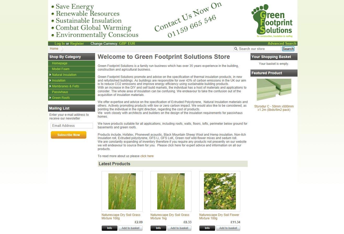 GreenFS Online Storefront Image